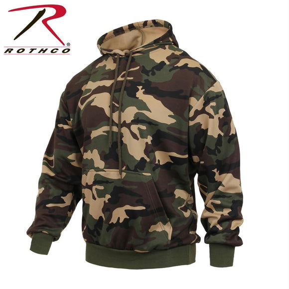 Rothco Performance Polyester Pullover Hoodie Woodland Camo M