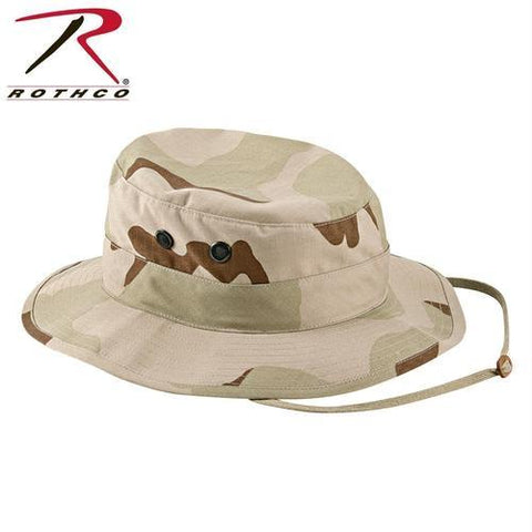 Rothco Poly/Cotton Rip-Stop Boonie Hat Tri-Color Desert Camo 7 3/4