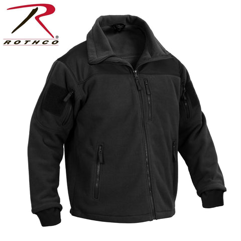 best Rothco Spec Ops Tactical Fleece Jacket Black L