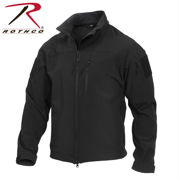 best Rothco Stealth Ops Soft Shell Tactical Jacket Black S