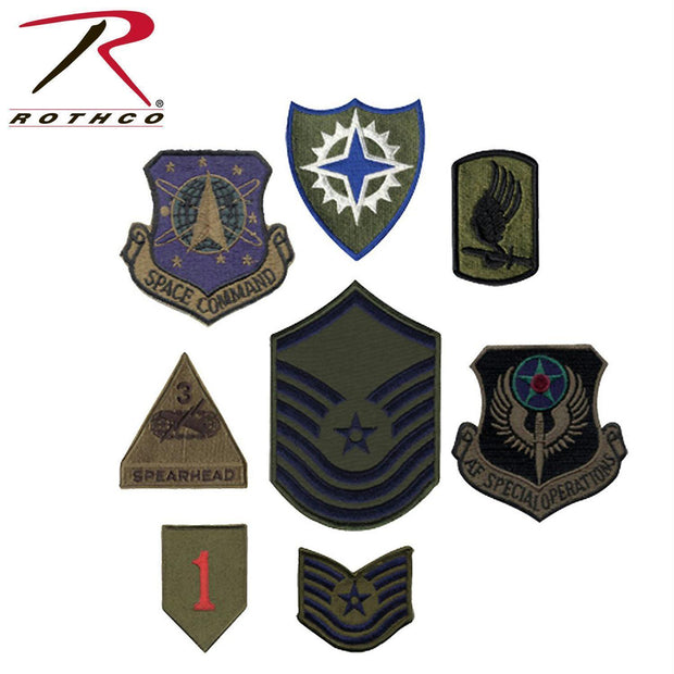 tactical and military Rothco Subdued Military Assorted Military Patches
