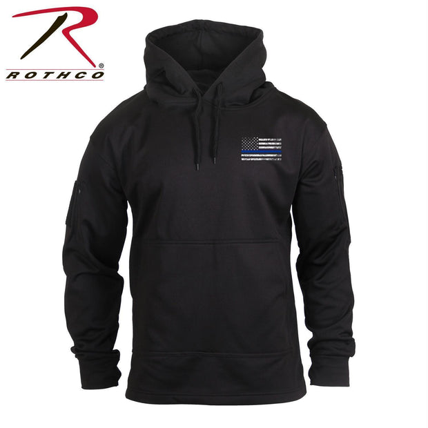 Rothco Thin Blue Line Concealed Carry Hoodie Black 4XL
