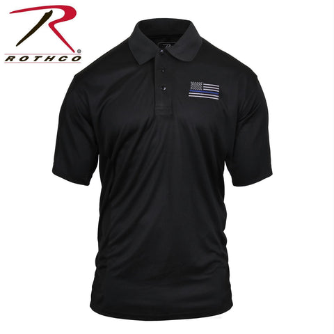 Rothco Thin Blue Line Moisture Wicking Polo