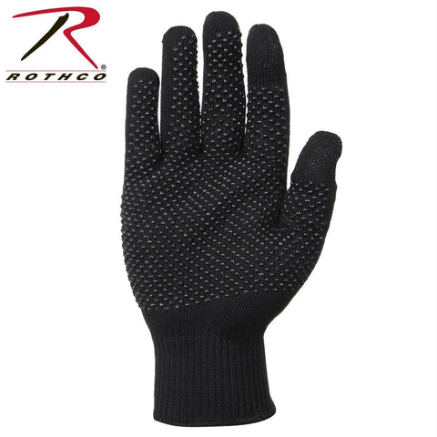 Rothco Touch Screen Gloves With Gripper Dots Black One Size