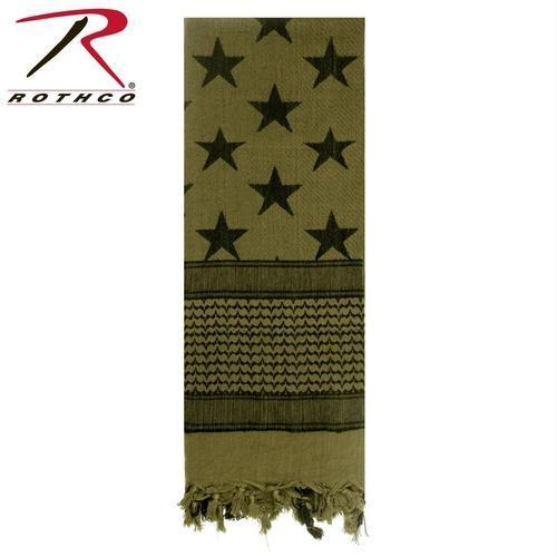 Rothco US Flag Shemagh Tactical Desert Scarf Olive Drab
