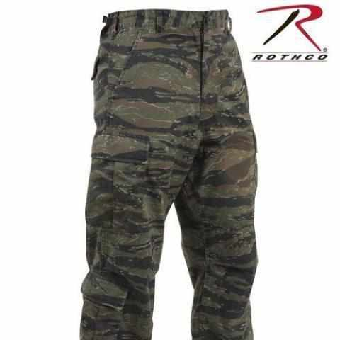 Rothco Vintage Camo Paratrooper Fatigue Pants Tiger Stripe Camo L