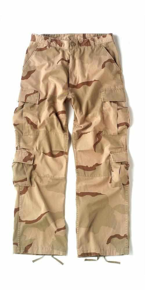 Rothco Vintage Camo Paratrooper Fatigue Pants Tri-Color Desert Camo 2XL
