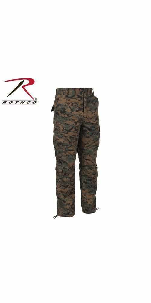 Rothco Vintage Camo Paratrooper Fatigue Pants Woodland Digital Camo S