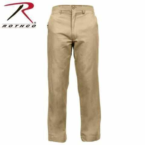 Vintage Military Style Chino Pants