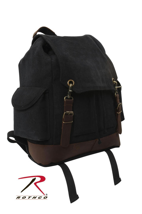 Rothco Vintage Expedition Rucksack Black