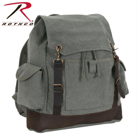 Rothco Vintage Expedition Rucksack Charcoal Grey