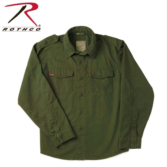 Rothco Vintage Fatigue Shirts Olive Drab 2XL