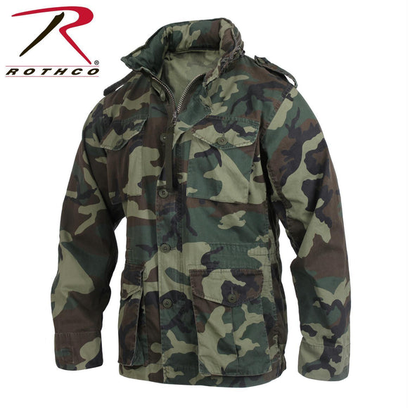 Rothco Vintage Lightweight M-65 Field Jacket Woodland Camo XS
