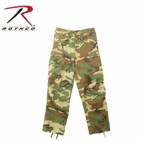 Rothco Vintage M-65 Field Pant Woodland Camo S