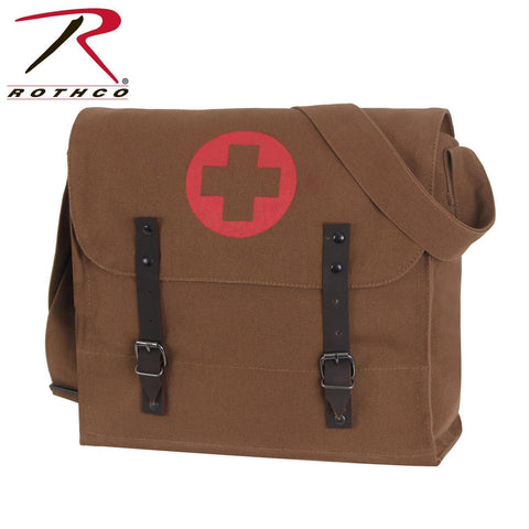 Rothco Vintage Medic Bag w/ Cross Brown