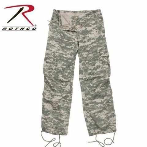 Rothco Womens Camo Vintage Paratrooper Fatigue Pants ACU Digital Camo XS