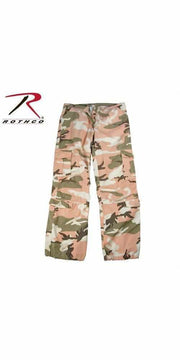 Rothco Womens Camo Vintage Paratrooper Fatigue Pants Subdued Pink Camo 2XL