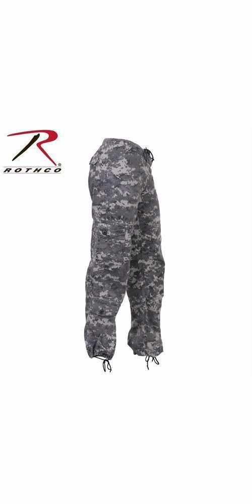 Rothco Womens Camo Vintage Paratrooper Fatigue Pants Subdued Urban Digital Camo XXS