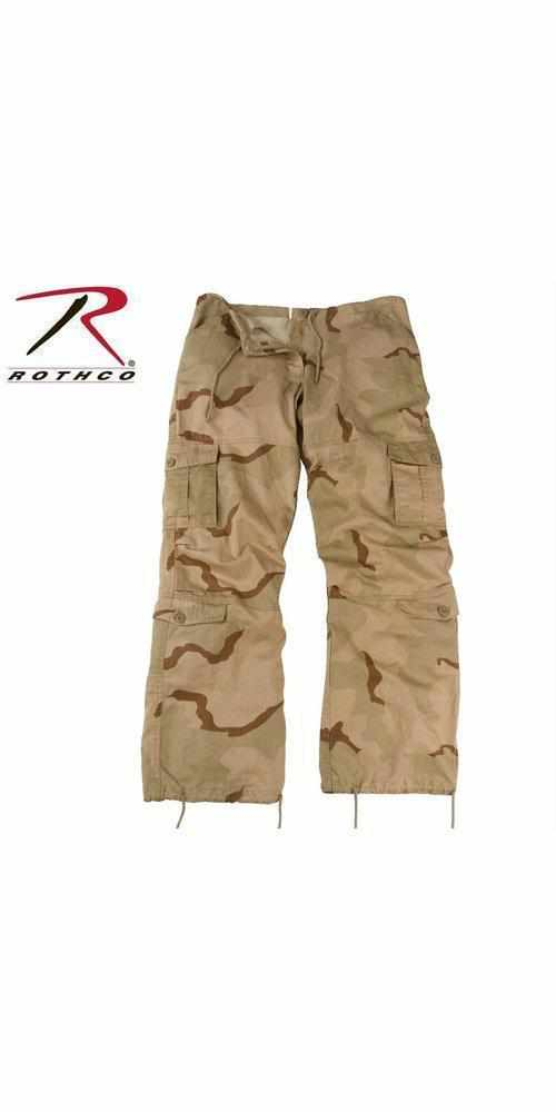Rothco Womens Camo Vintage Paratrooper Fatigue Pants Tri-Color Desert Camo M