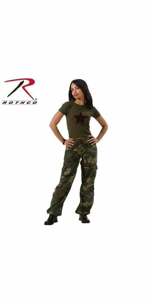 Rothco Womens Camo Vintage Paratrooper Fatigue Pants Woodland Camo 2XL