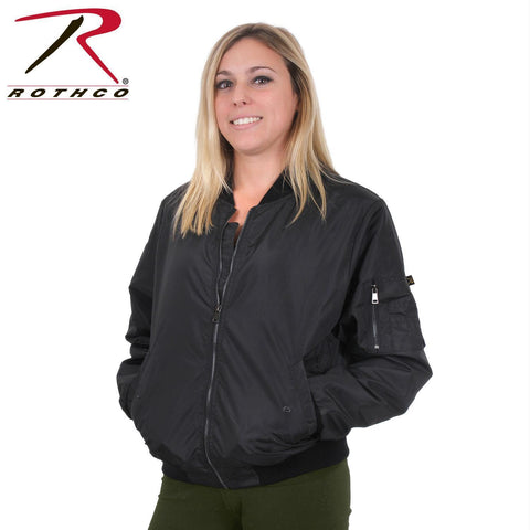 best Rothco Womens MA-1 Flight Jacket Black L
