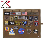 tactical and military Rothco's Hanging Roll-Up Morale Patch Board Coyote Brown