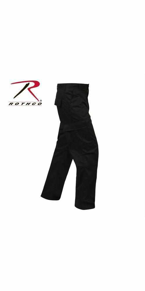best-Rothco Relaxed Fit Zipper Fly BDU Pants-Black-2XL-