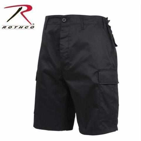 best-Rothco Zipper Fly BDU Combat Shorts-Black-3XL-