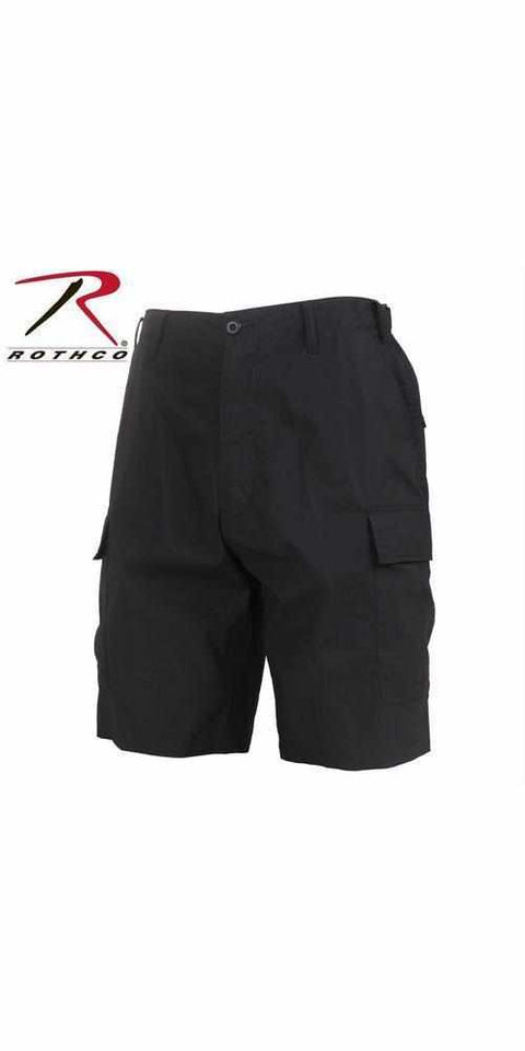 best-Rothco Lightweight Tactical BDU Shorts-Black-M-