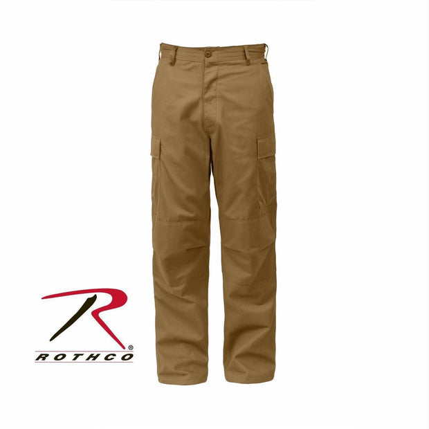 best-Rothco Relaxed Fit Zipper Fly BDU Pants-Coyote Brown-3XL-