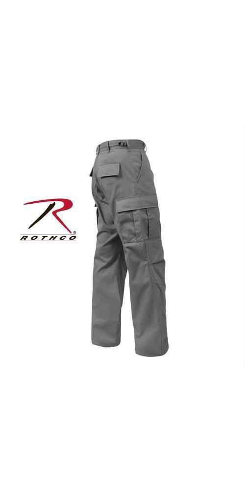 "best-Rothco Tactical BDU Pants-Grey-3XL (47""-51"" Waist)-"