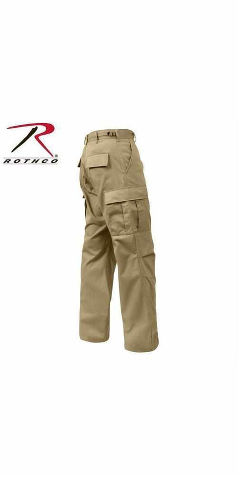 best-Rothco Relaxed Fit Zipper Fly BDU Pants-Khaki-3XL-