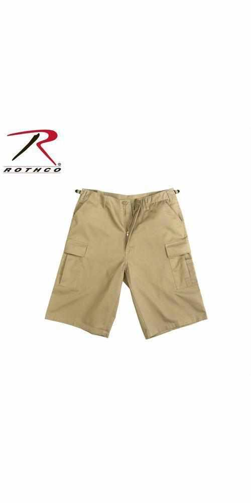 best-Rothco Long Length BDU Short-Khaki-S-