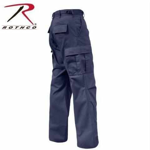 best-Rothco Relaxed Fit Zipper Fly BDU Pants-Navy Blue-3XL-