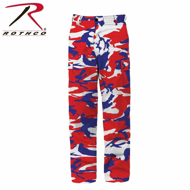 best-Rothco Color Camo Tactical BDU Pant-Red / White / Blue Camo-S-