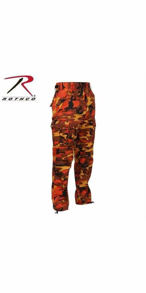 best-Rothco Color Camo Tactical BDU Pant-Savage Orange Camo-2XL-