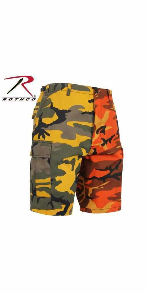 best-Rothco Two-Tone Camo BDU Short-Stinger Yellow / Savage Orange Camo-2XL-