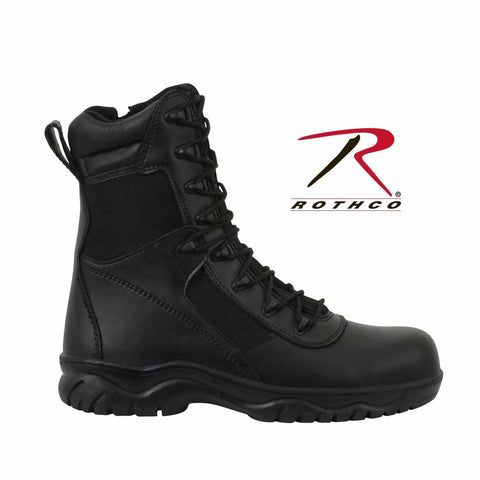 best Rothco 8 Inch Forced Entry Tactical Boot With Side Zipper & Composite Toe Black 15