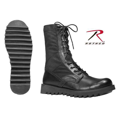 best Rothco Black Ripple Sole Jungle Boots 14 Regular