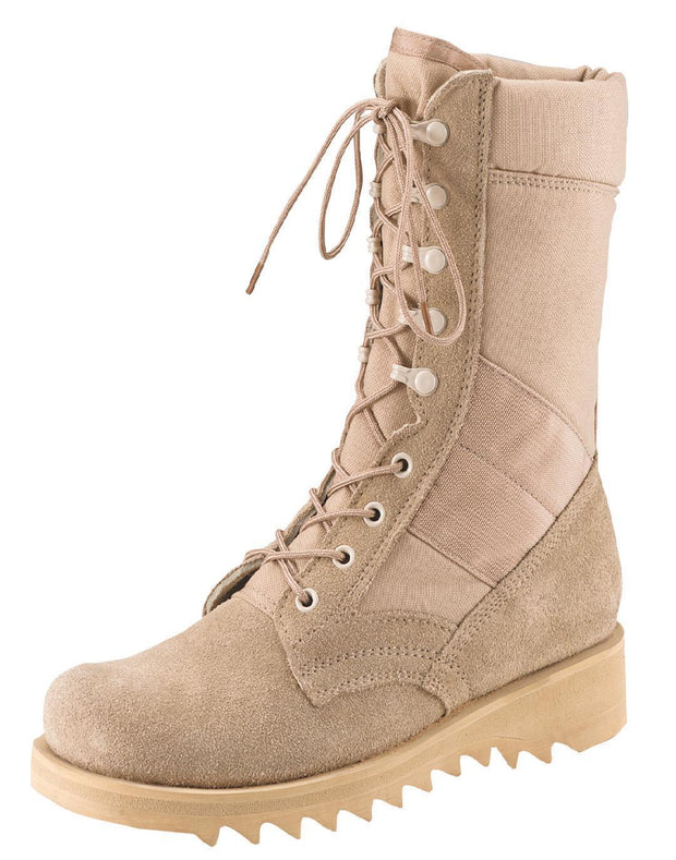 best Rothco G.I. Type Ripple Sole Desert Tan Jungle Boots