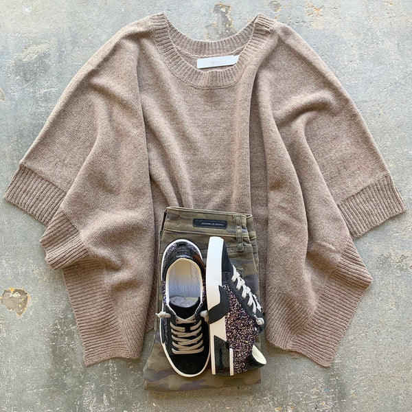 Jodie Poncho Taupe