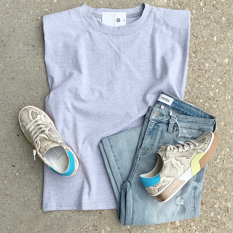 Easy Tee Heather Grey