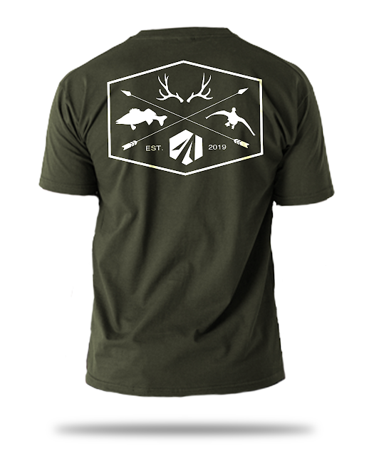 Military Green 4 Logo Shirt