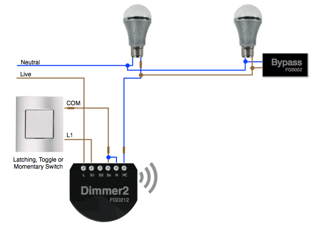 Installing the Fibaro Dimmer Bypass