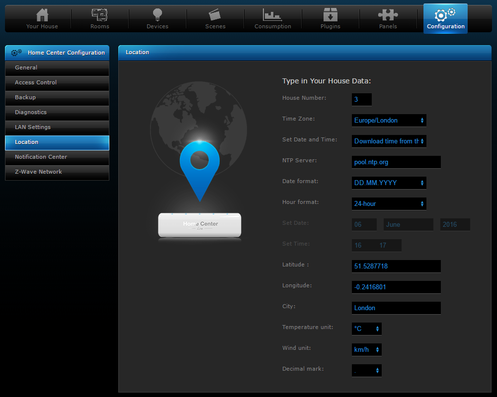 Location Dashboard