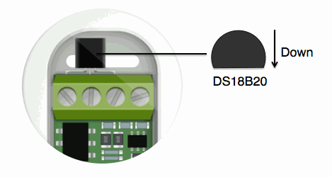 Connecting the DS18B20 temperature sensor