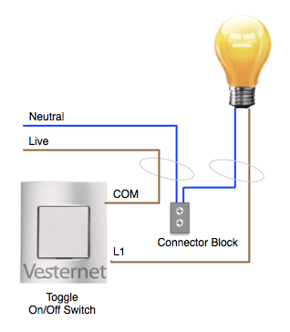 Standard 3-wire Lighting Circuit wiring