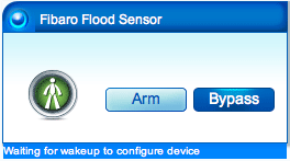 Fibaro Flood Sensor waiting for configuration