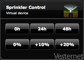 Virtual Device to control 'Rain Delay' and 'Adjust Water'