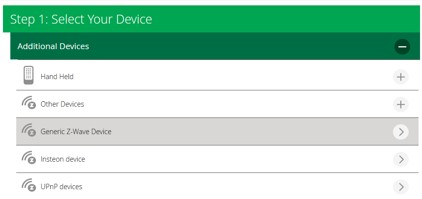 Add Generic Device in VERA UI7